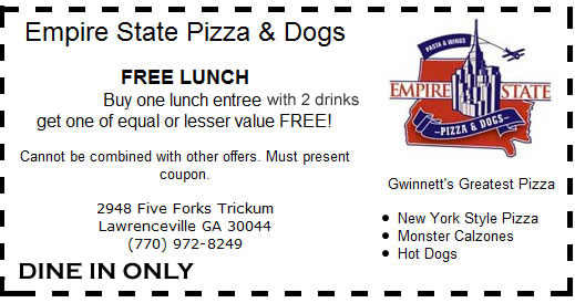 Empire State Pizza and Dogs Restaurant Coupons