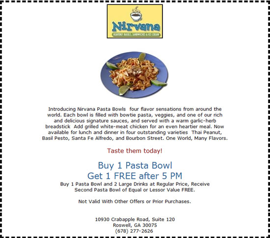 Nirvana Cafe & Grille Coupons