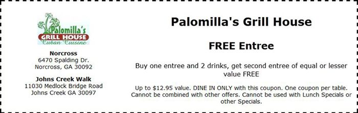 Palomilla's Cuban Grill House Coupons